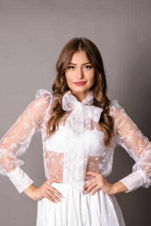 Blair White Organza Blouse