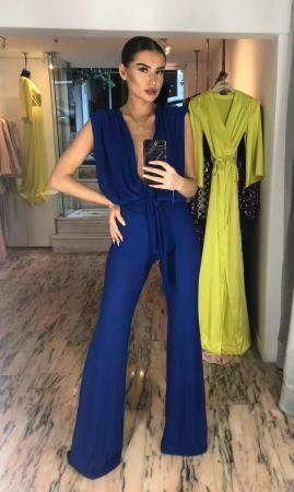 Addicted to Blue High Cut Jumpsuit