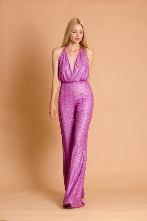 Crystal Lilac Sequin Jumpsuit