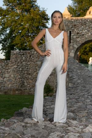NOUR white jumpsuit