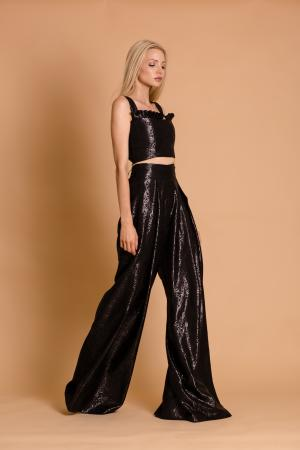 Ciara Black Palazzo Pants and Bustier