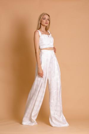 Ciara White Palazzo Pants and Bustier