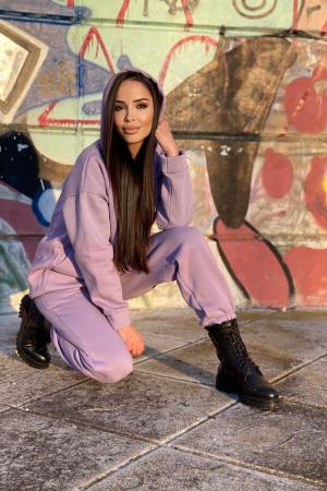 Oversized Hoodie Lilac Co-ord Set
