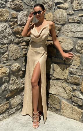 ANGEL golden sand maxi dress
