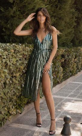Aramis Sequin Wrap Dress