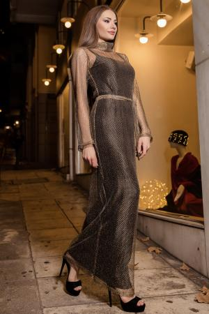 Black and Gold dress by CAELI