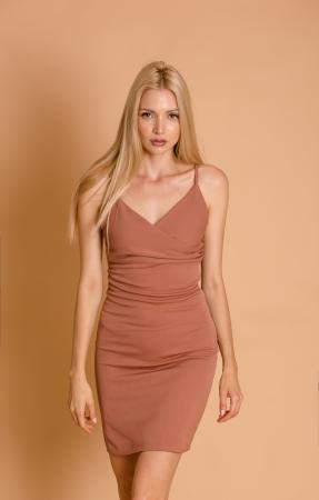 Blair Dark Nude Mini Dress