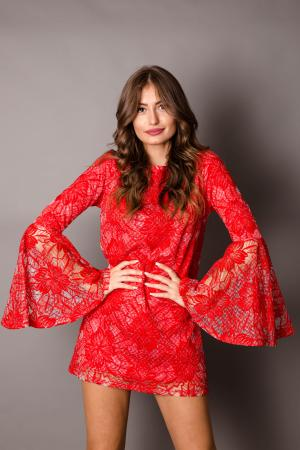 Capri Red Lace Dress
