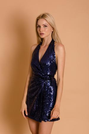 Gigi Sequin Wrap Dress