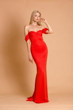 Marilyn Off Shoulder Mermaid Dress