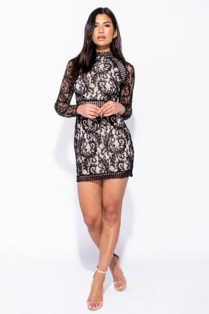Mini lace dress by SECOND SKIN