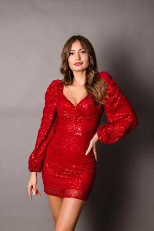 Morgan Red Sequin Dress