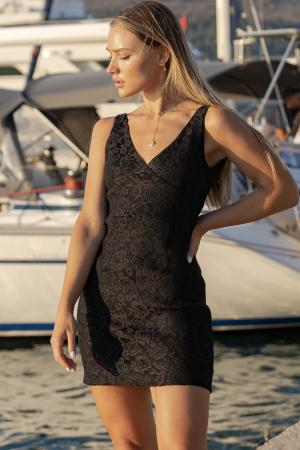 RAYA black lace dress
