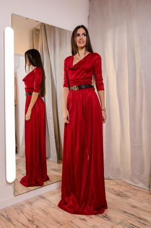 Red is my Happy Color LUREX Maxi Dress