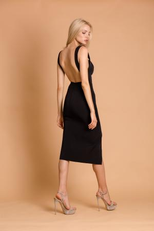 Simone Midi Black Dress