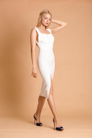 Simone Midi White Dress