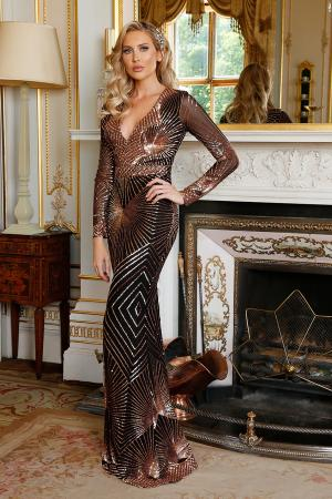 Stardust Sequin Maxi Gown by GODDIVA