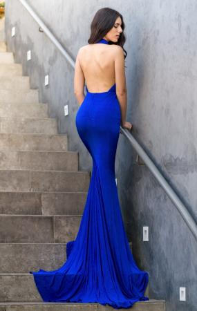Stole the Show Royal Blue Backless Gown