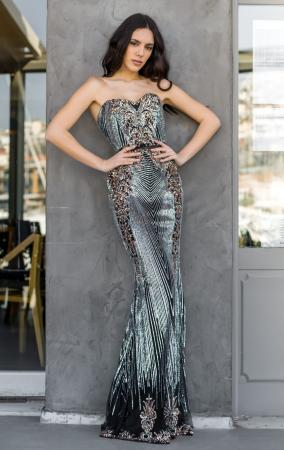 Sweetheart Embellished Maxi Gown