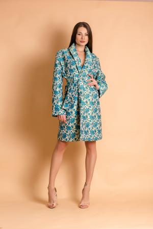 Blue Flower Dress/Jacket by CAELI