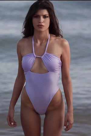 Purple Swimsuit by CAELI
