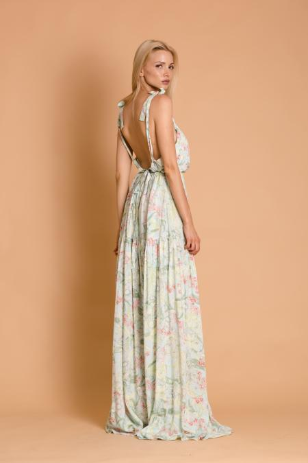 Lulu Blue Floral Gipsy Dress | Φορέματα - Clothing | Γυναικεία